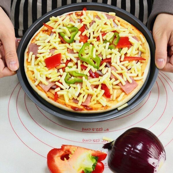Pizza on pizza pan